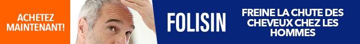 Folisin freine la chute des cheveux chez les hommes